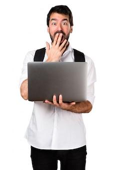 Studente con laptop