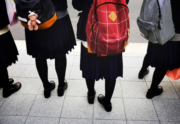 学生服の制服日本のバックパック