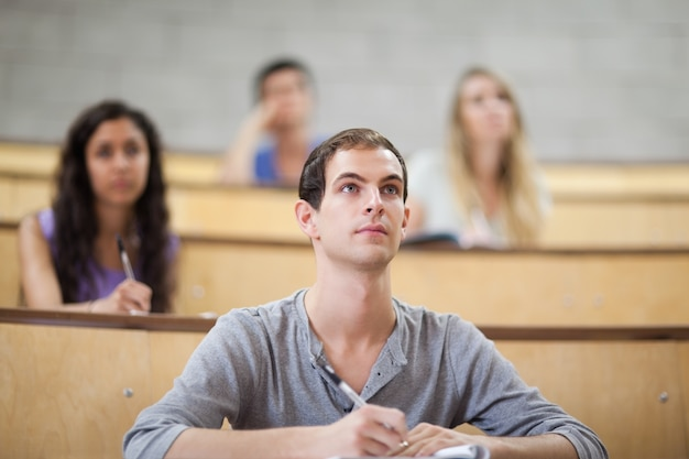 Students listening during a lecture