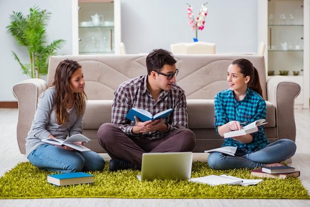 Students preparing for university exams
