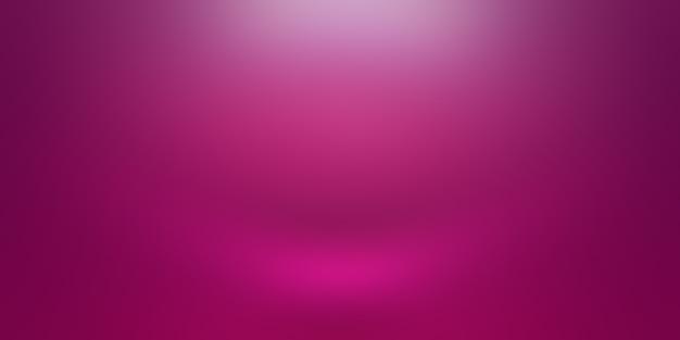 スタジオ背景コンセプト-製品の抽象的な空の光のグラデーション紫のスタジオルームの背景。プレーンスタジオの背景。