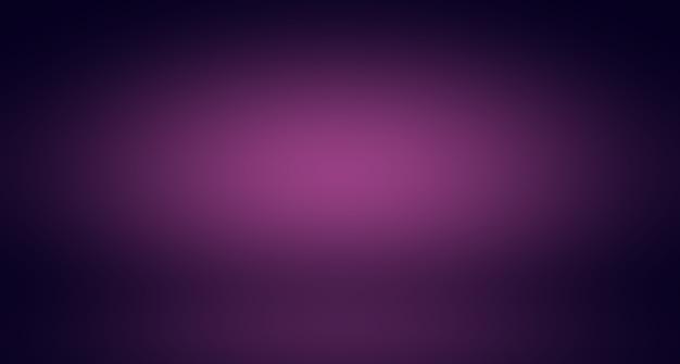 Концепция фона студии - абстрактный пустой светлый градиент фиолетовый фон комнаты студии для продукта.