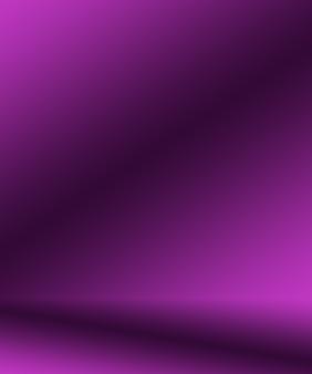 스튜디오 배경 개념 - 제품에 대한 추상 빈 빛 그라데이션 보라색 스튜디오 룸 배경.
