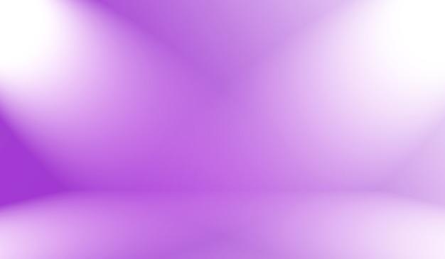 Концепция фона студии - абстрактный пустой светлый градиент фиолетовый фон комнаты студии для продукта. Premium Фотографии