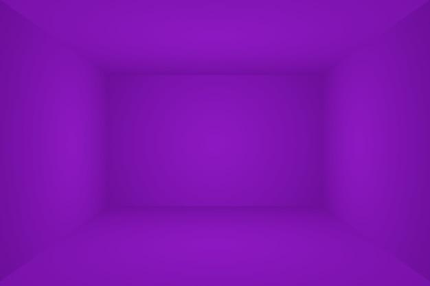 Studio sfondo concetto astratto vuoto sfumatura di luce viola studio stanza sfondo per p...