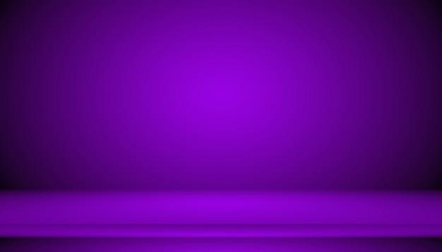 Концепция студии фон - темный градиент фиолетовый студии фон для продукта.