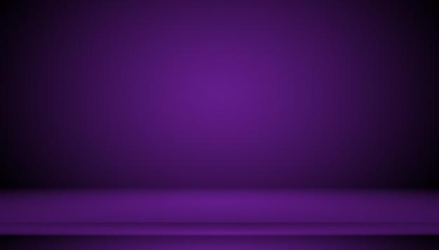Концепция фона студии - темный градиентный фиолетовый фон комнаты студии для продукта. Бесплатные Фотографии