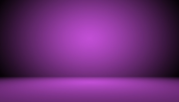Sfondo studio concetto sfondo viola sfumato scuro della stanza dello studio per il prodotto
