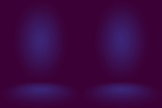 Studio background concept  dark gradient purple studio room background for product