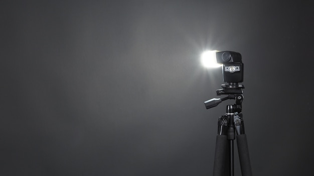 Studio light and back drop and soft box set up for shooting photo or video production which include