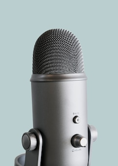 Studio microphone for recording a podcast