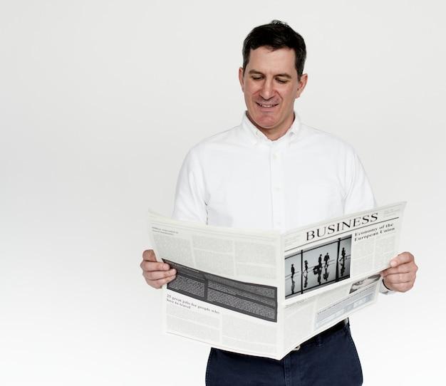 Studio people shoot portrait isolated on white