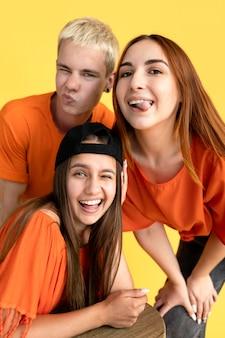 Студийный портрет подростков