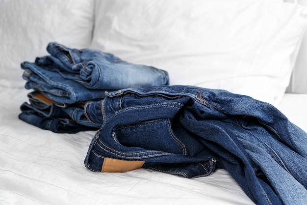 Studio shot jeans, clothing, denim
