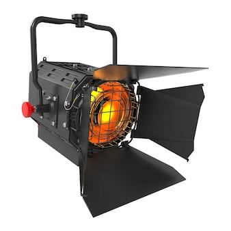 Studio spotlight or stage light on white background.