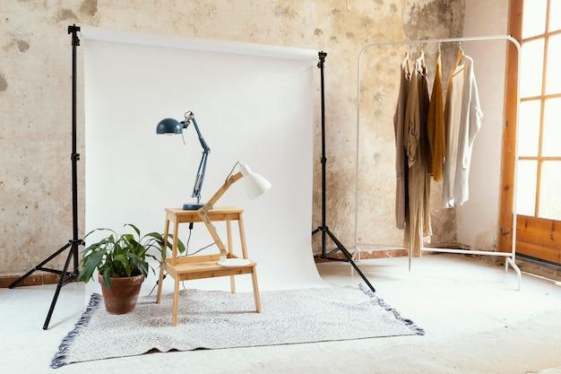 사진 소품이있는 스튜디오