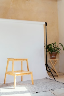 Studio with props for photography