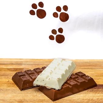 イースターのために飾られた詰め物のチョコレートバー