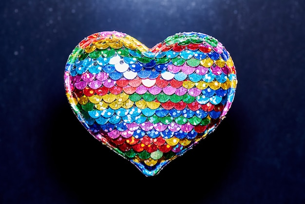 Stuffed rainbow heart
