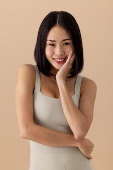 Stunning asian woman model portrait