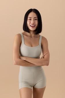 見事なアジアの女性の肖像画