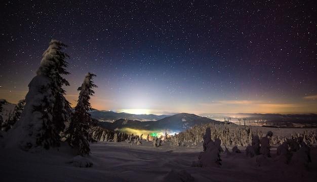 スキーリゾートの見事な美しい景色