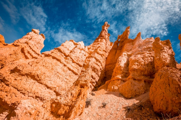 Stunning eroded stones on the queens garden trail in bryce national park, utah. u.s