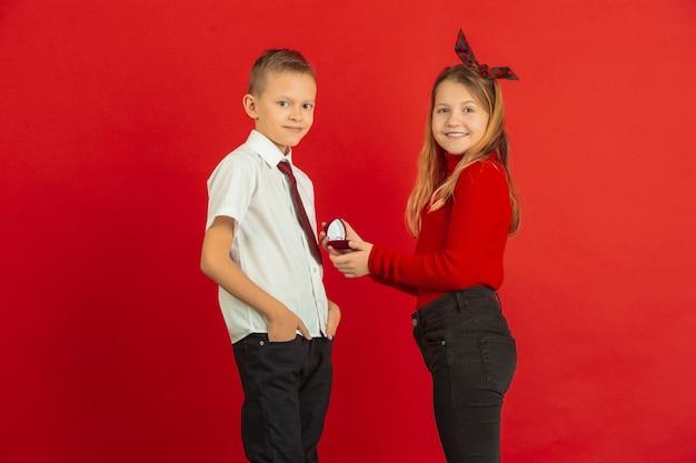 男の子から女の子への見事な贈り物