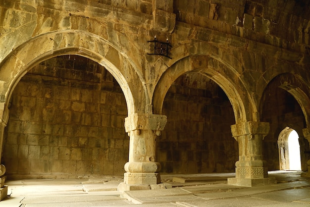 Stunning interior of the medieval sanahin monastery in lori province of armenia