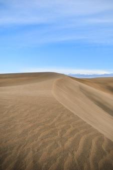 砂漠の風景の見事な垂直ショット