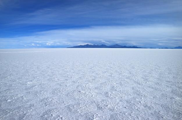 Stunning view of the world's largest salts flat, salar de uyuni in potosi of bolivia
