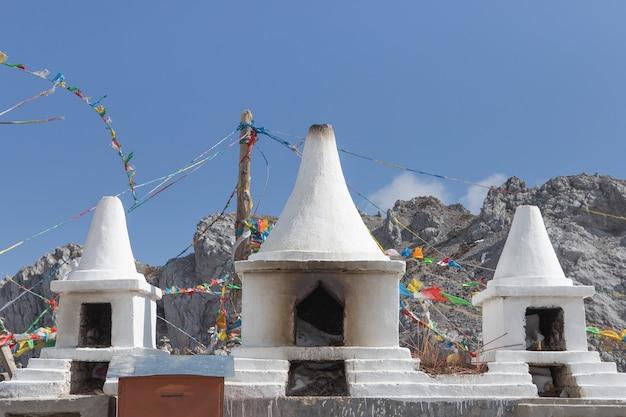 Stupa at high mountain, china