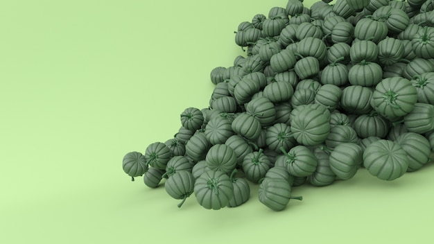 Stylised jack-o-latern pumpkin