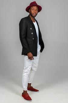 Stylish african american black man