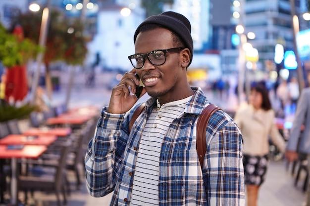 Stylish african-american man on street
