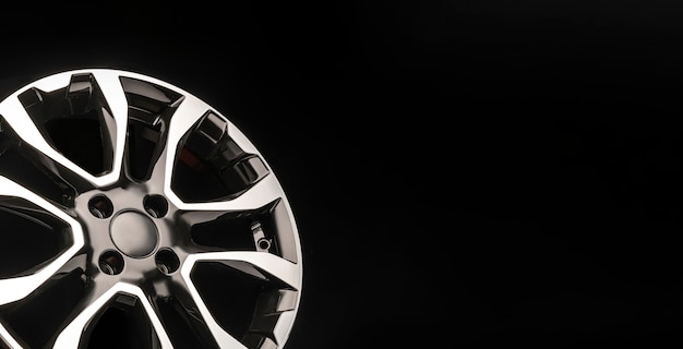 Stylish alloy wheels, black with silver and polished