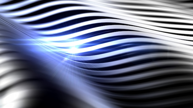 Stylish black background with lens flare. 3d rendering.