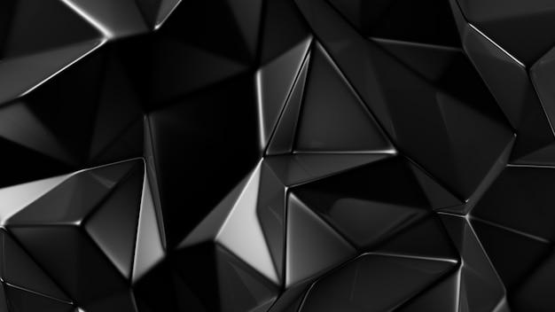 Stylish black crystal background. 3d illustration, 3d rendering.
