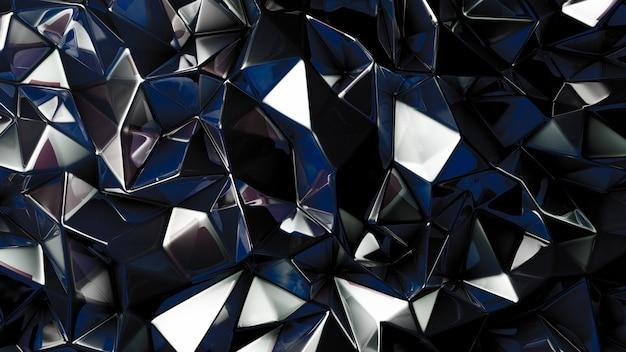 세련된 블랙 크리스탈 배경. 3d 그림, 3d 렌더링입니다.
