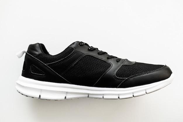 Stylish black fashion sneakers