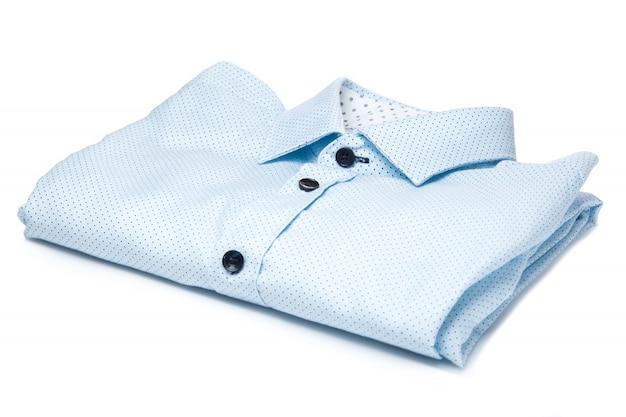 Стильная синяя рубашка