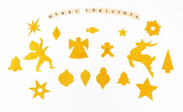 Стильные рождественские вырезы, выполненные вручную и изготовленные на рождество, плоские l