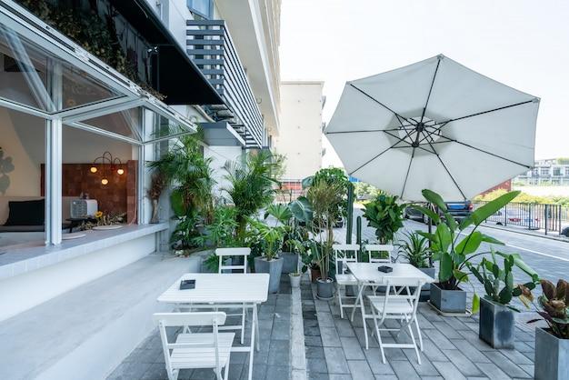 Stylish coffee shop on the street