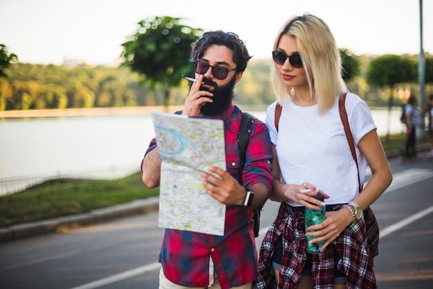 Stylish couple on vacation