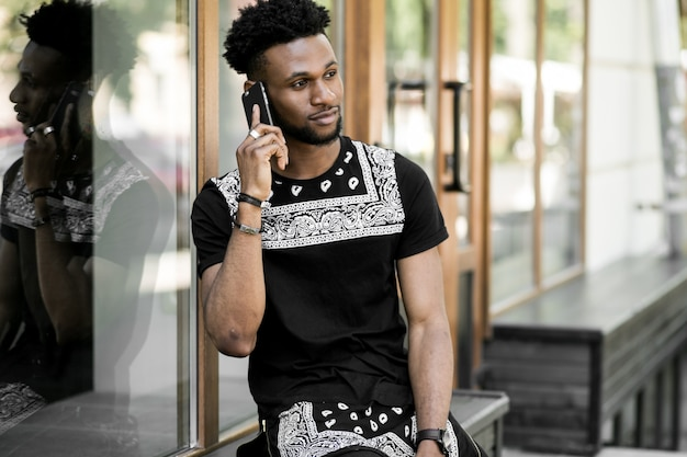 Stylish day phone african technology sunglasses