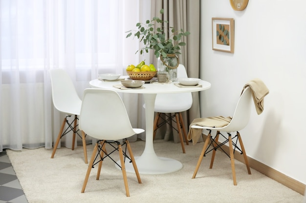 Stylish dining room interior
