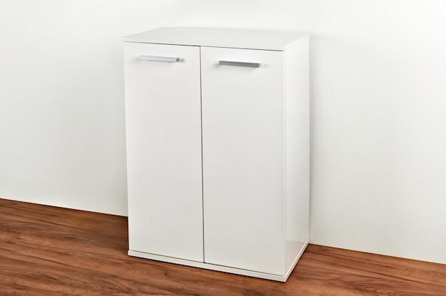 Stylish dresser on white background. furniture for wardrobe room