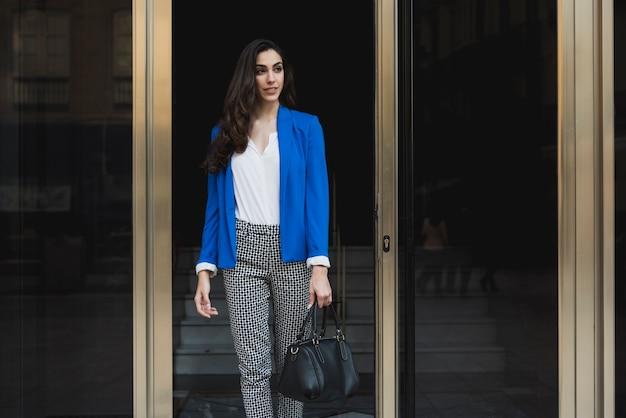 Stylish executive with blue jacket
