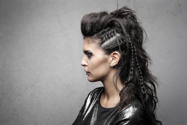 Stylish extreme hairstyle
