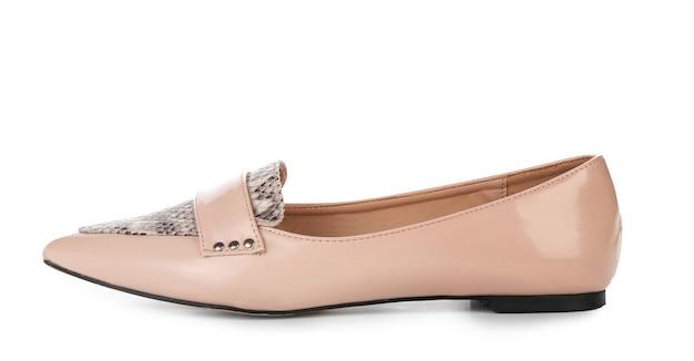 白のスタイリッシュな女性の靴